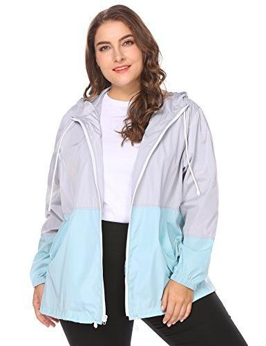 women's plus size rain jackets